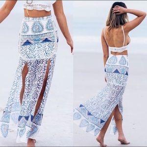 Maxi Side Slits Sabo Skirt